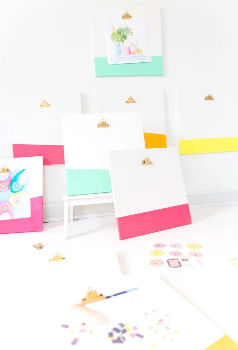 DIY Canvas Clipboards