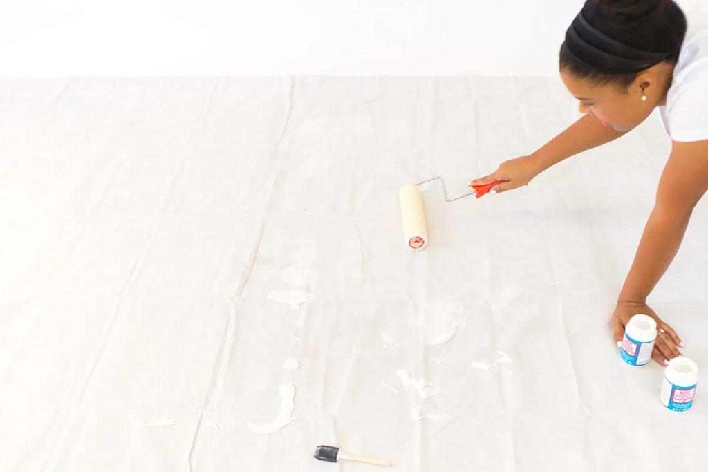 Fabric Rug Diy Diy Mod Podge Fabric Rug Damask Love