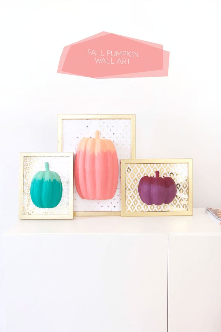 DIY Paper Pumpkin Wall Art