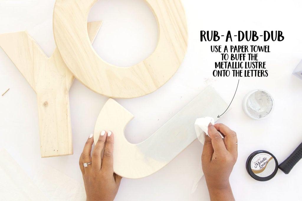 DIY Wood Joy Decor   damask love