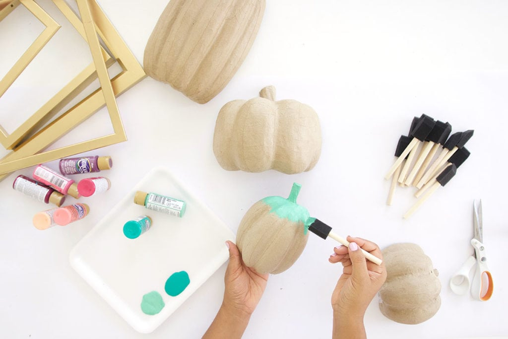 DIY Paper Pumpkin Wall Decor | damask love