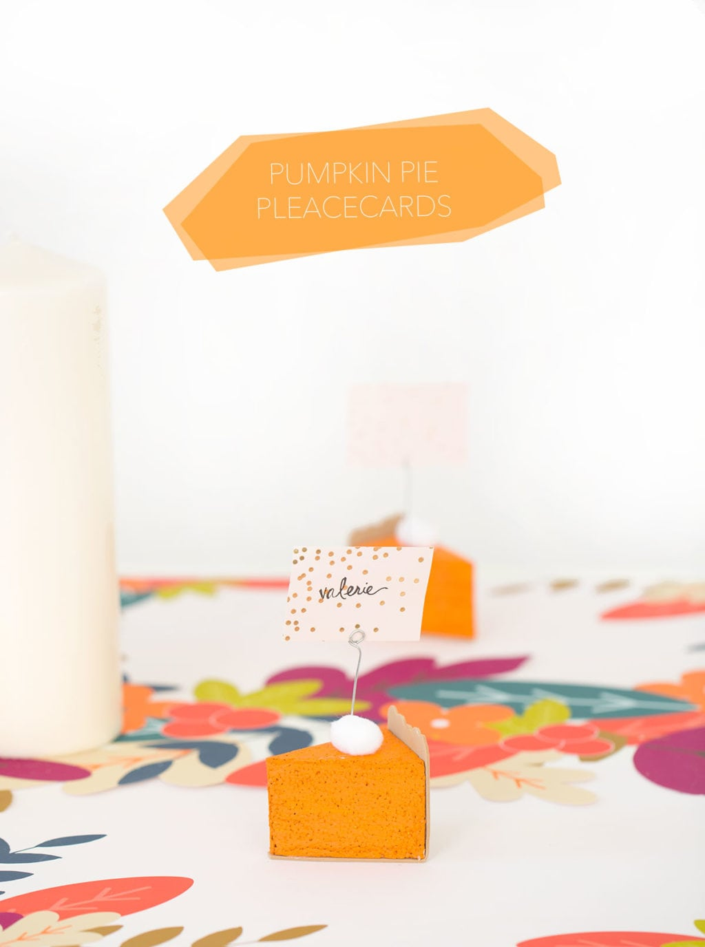 DIY Pumpkin Pie Placecards - Damask Love