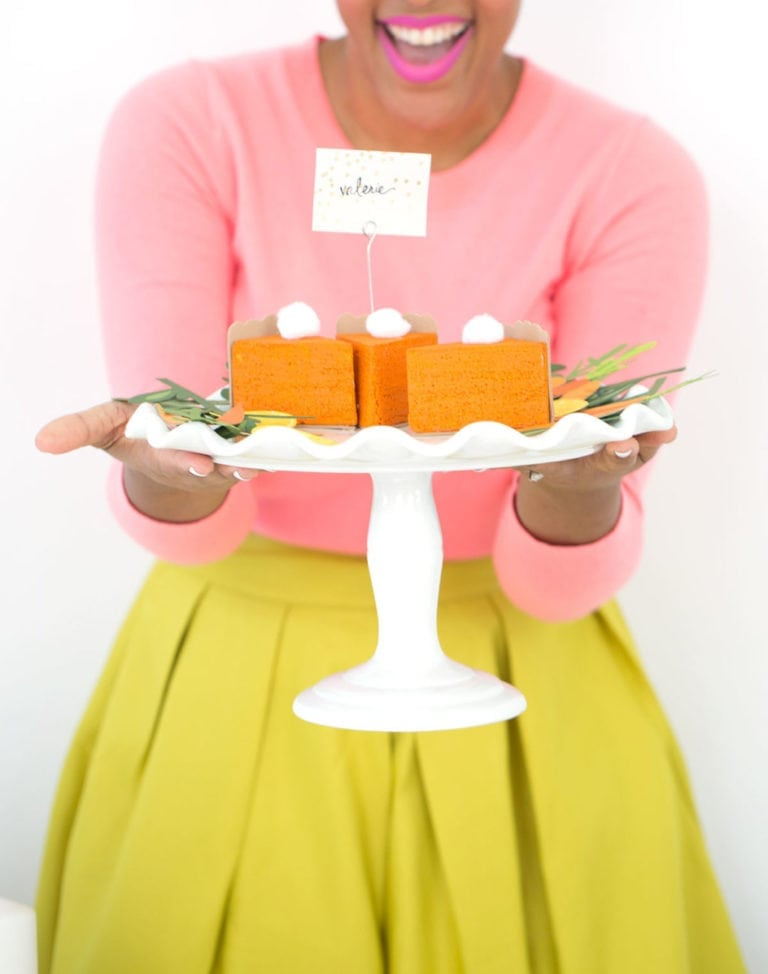 DIY Pumpkin Pie Placecards