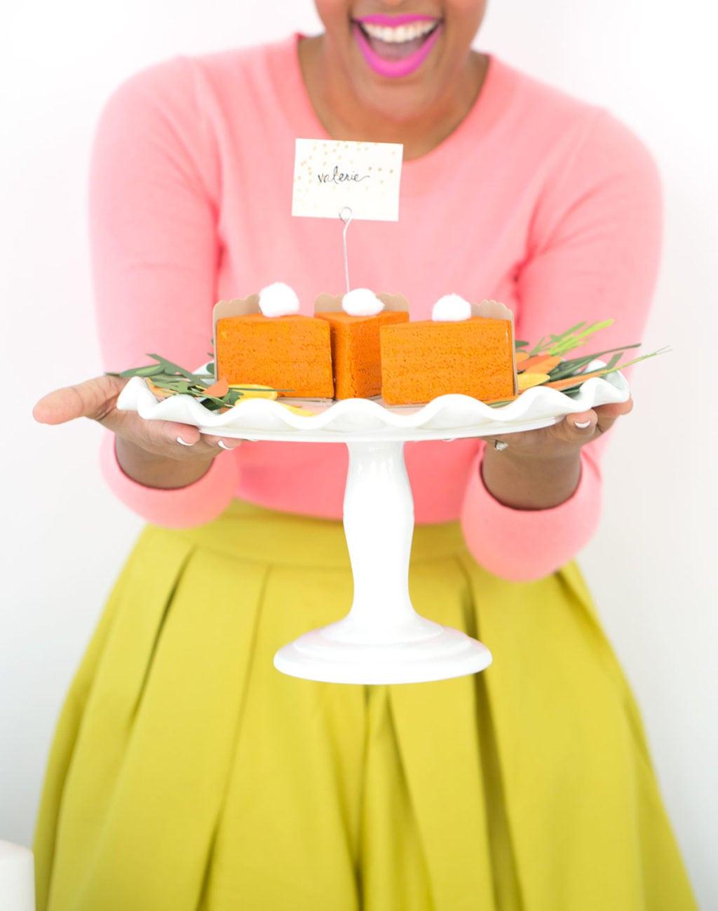 DIY Pumpkin Pie Placecards - Damask Love