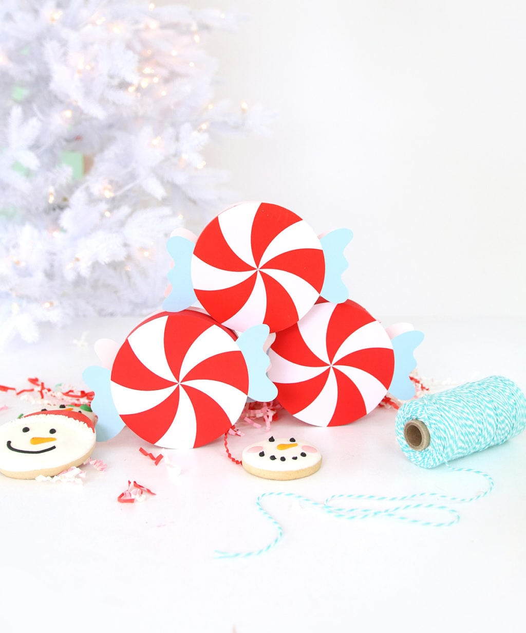 Printable Peppermint Treat Box | damask love