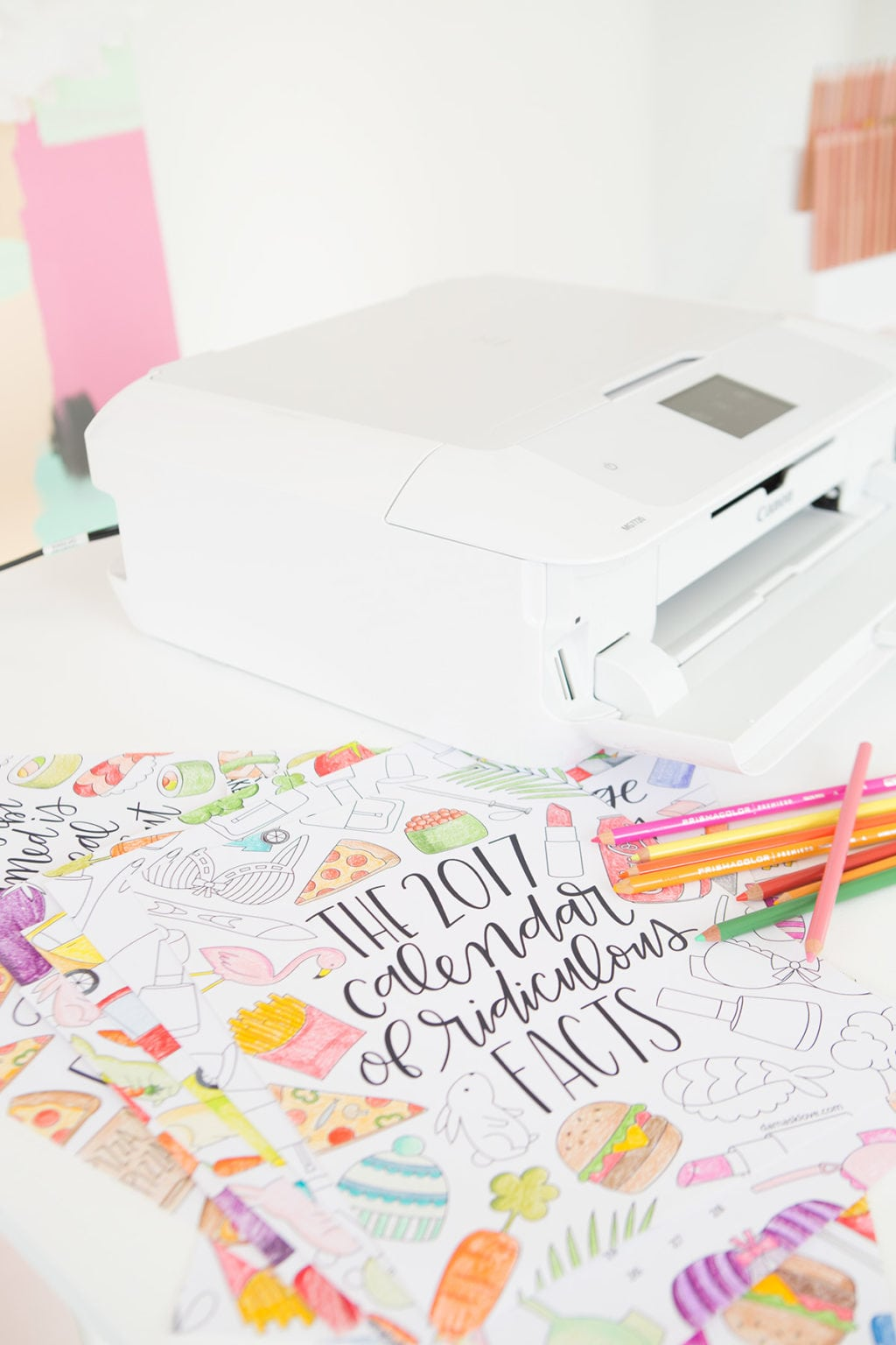 2017 Printable Coloring Calendar | Damask Love