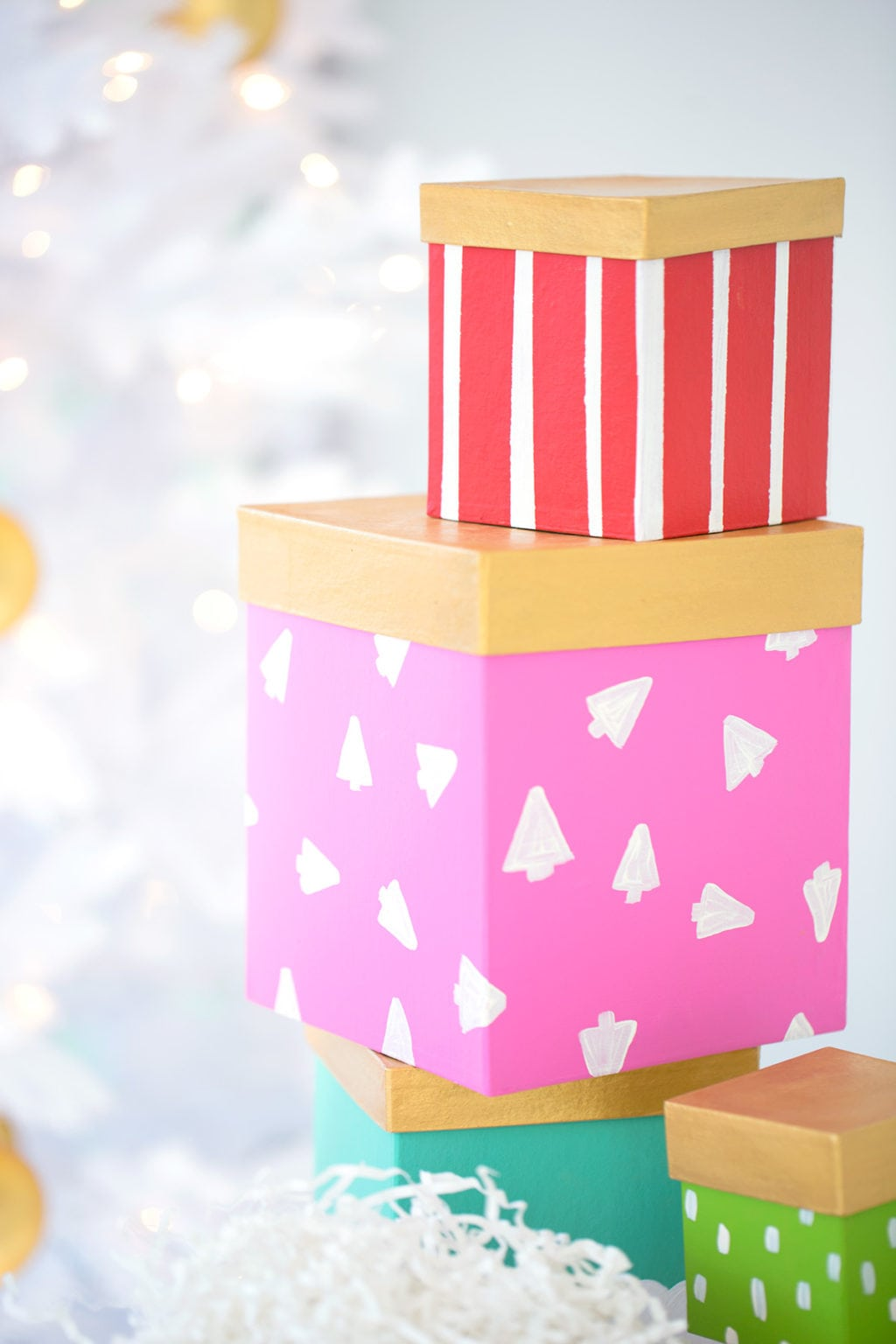 DIY Painted Gift Boxes | damask love