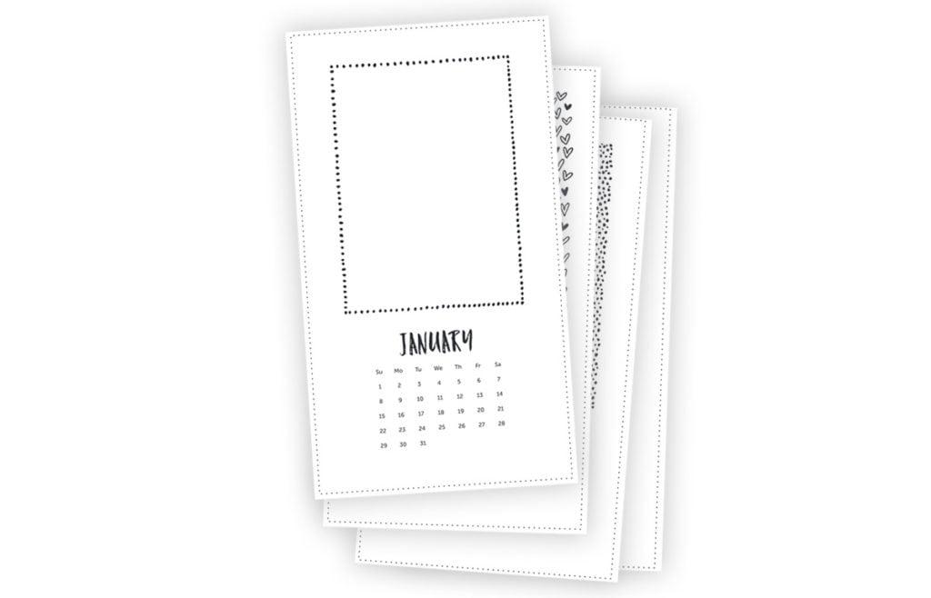 Printable Photo Calendar | damask love