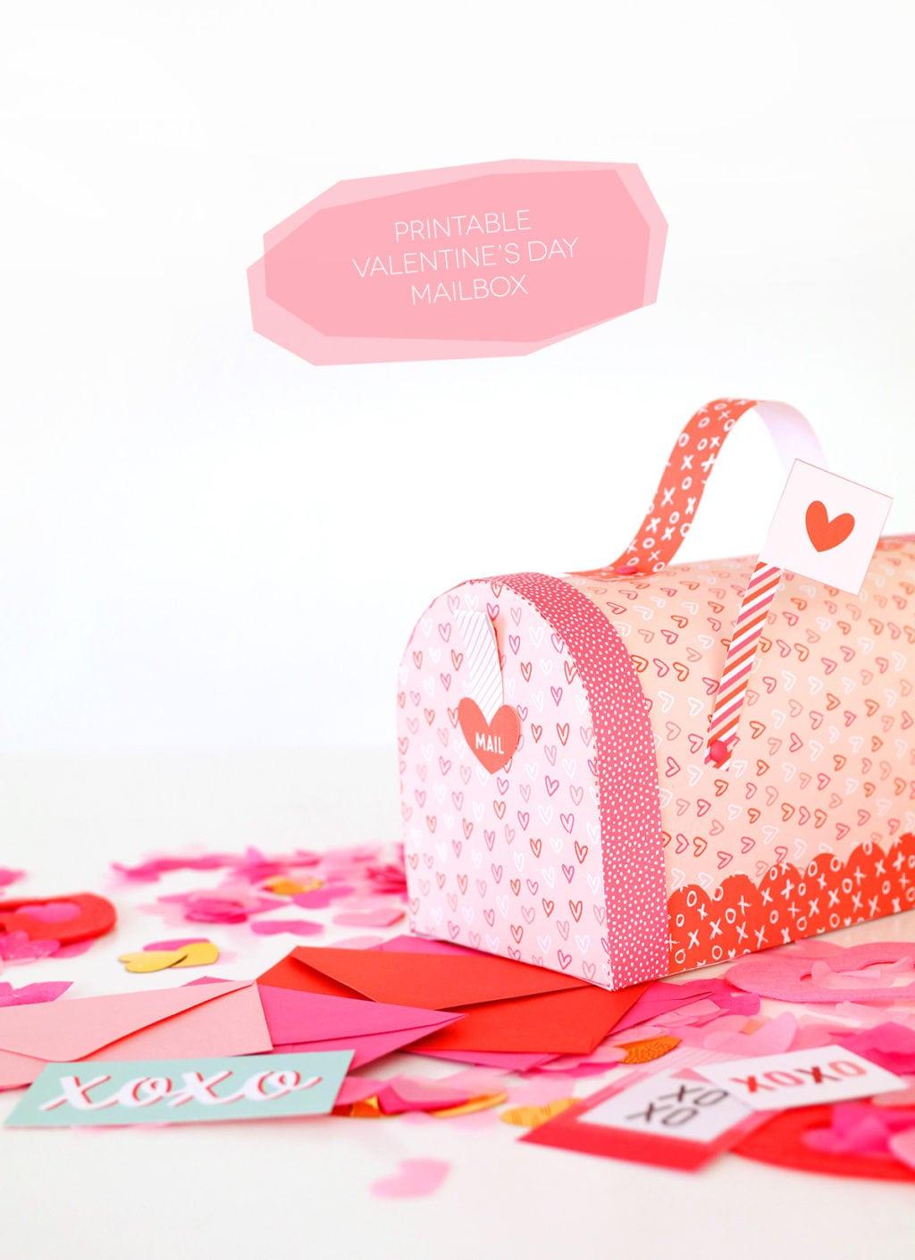 Printable Valentine\'s Day Mailbox | Damask Love