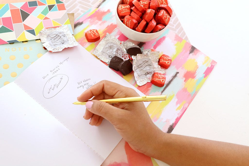 DIY Your Own DOVE Chocolates Message | damask love