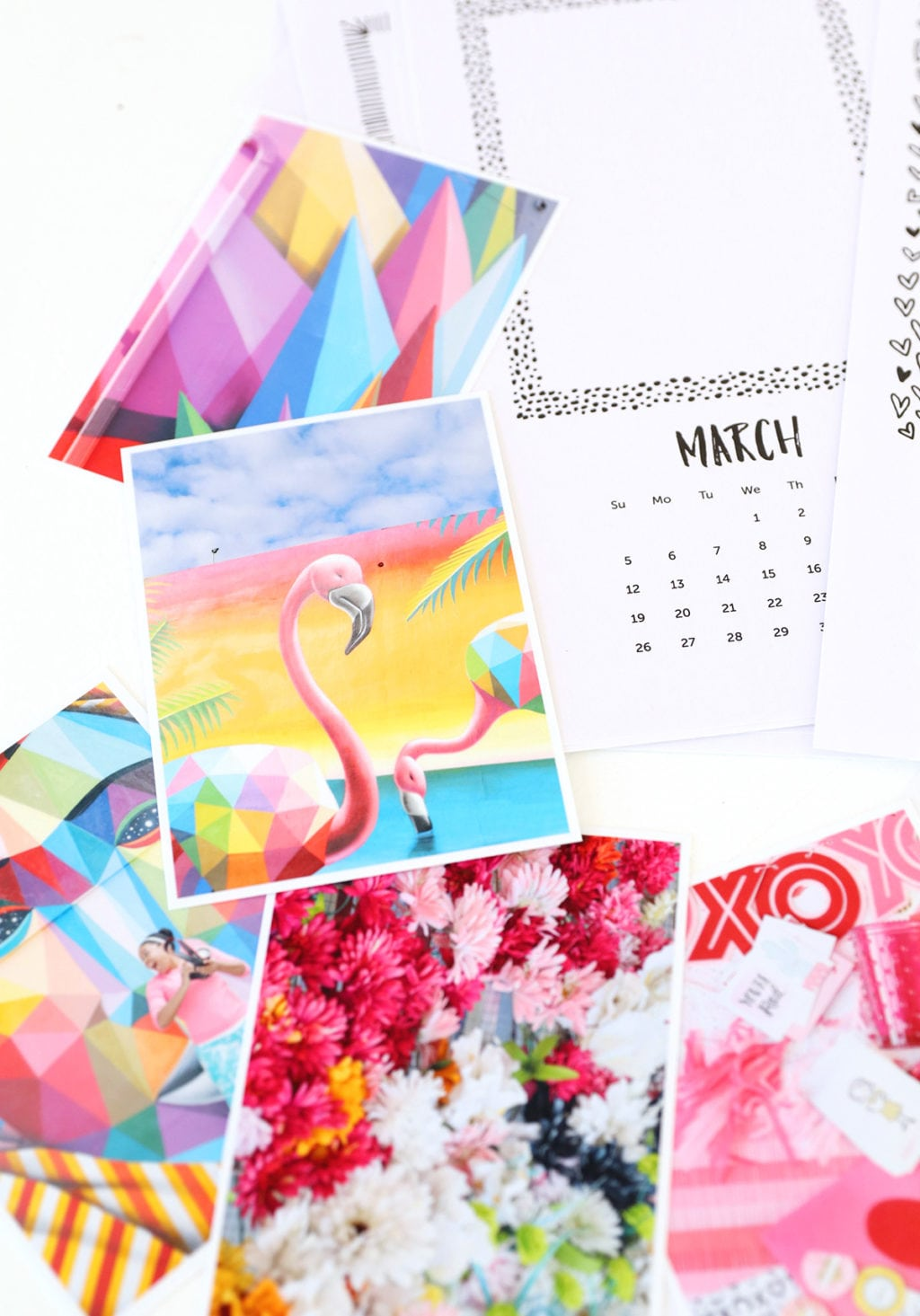 Printable Photo Calendar | damask love