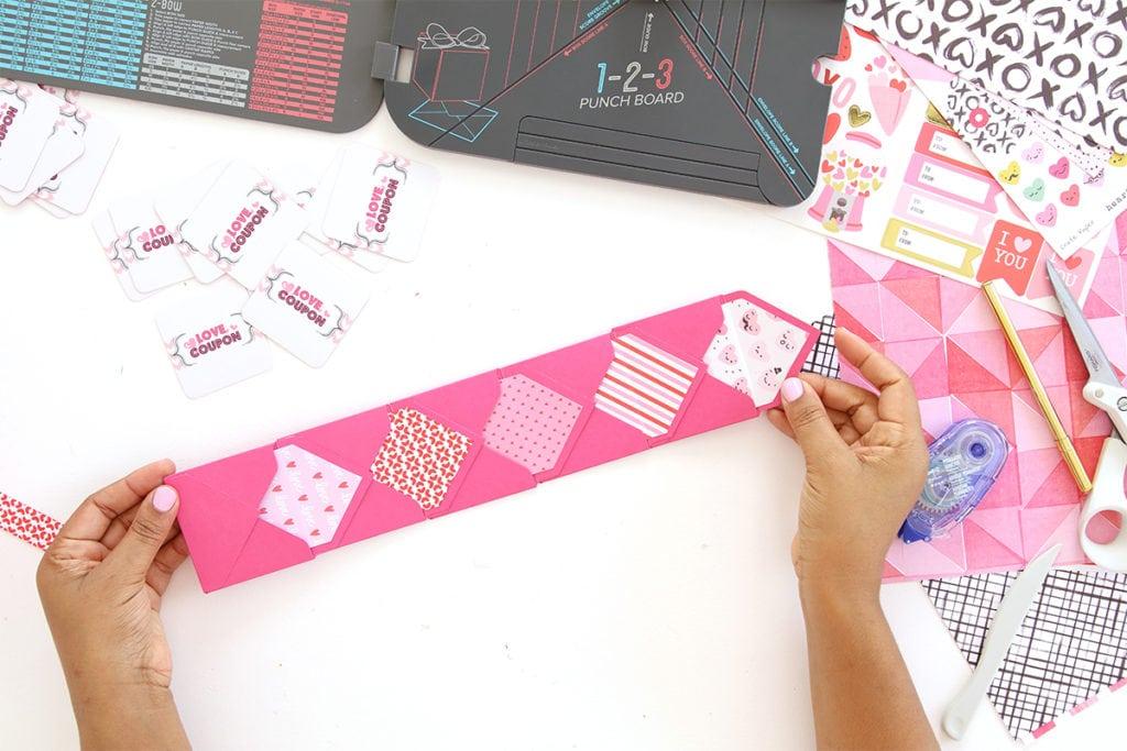 DIY Valentine Coupon Book   damask love