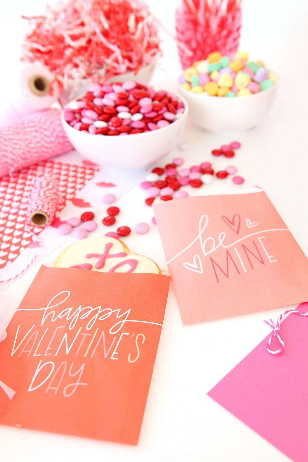 Printable Valentine Freezer Paper Treat Bags Damask Love