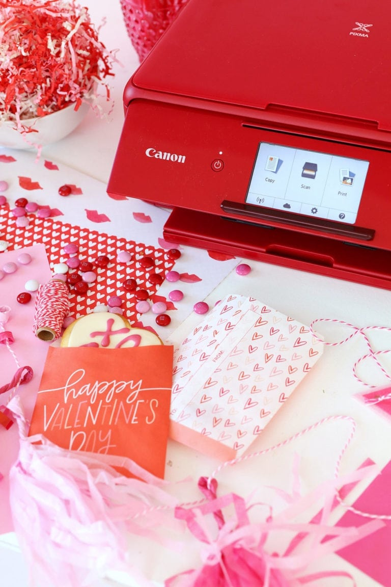 Printable Valentine Freezer Paper Treat Bags
