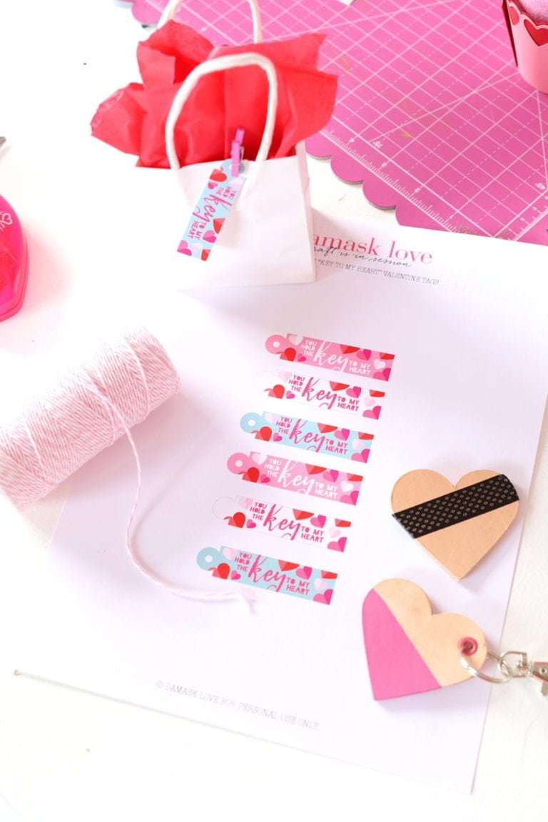"""Printable """"Your the Key to My Heart"""" Gift Tags"""