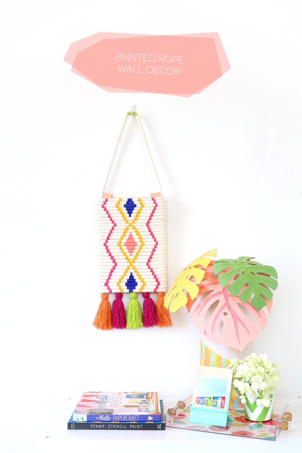 DIY Painted Rope Wall Decor | damask love
