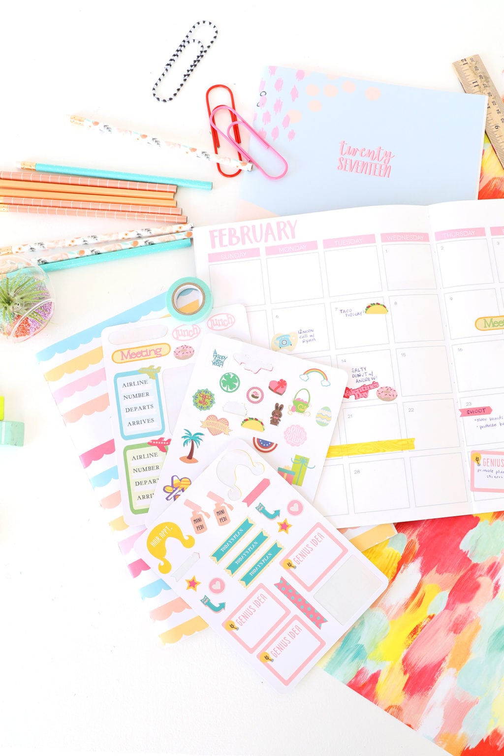 Cricut Print Then Cut Planner Stickers | damask love