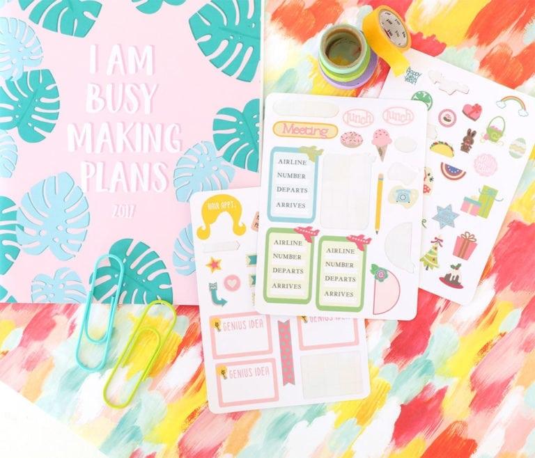 Cricut Print Then Cut Planner Stickers