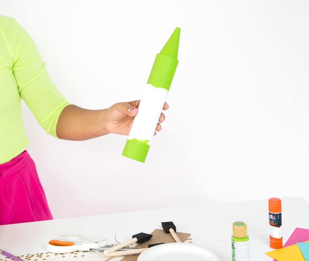 DIY Crayon Mail Tube Bank | damask love