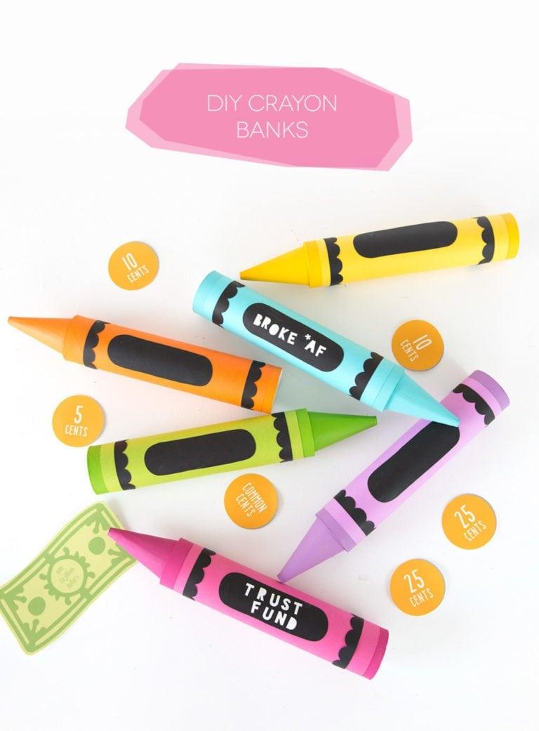 DIY Crayon Mail Tube Bank