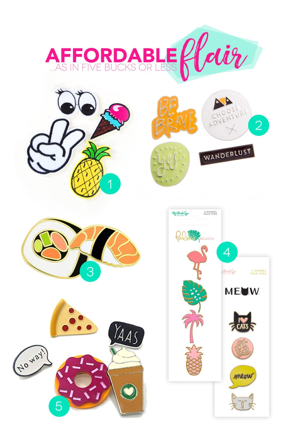 Where to Buy Affordable Flair Pins and Patches | damask love