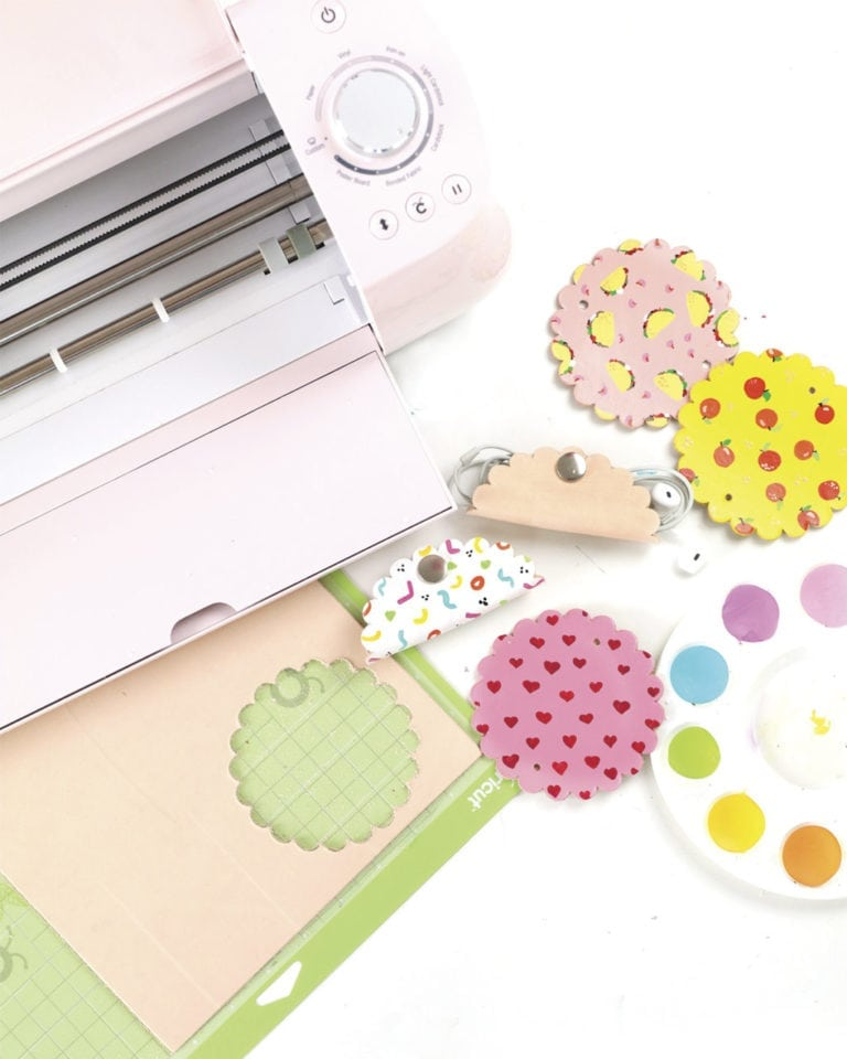 Damask Live: Cutting Leather with the Cricut Explore