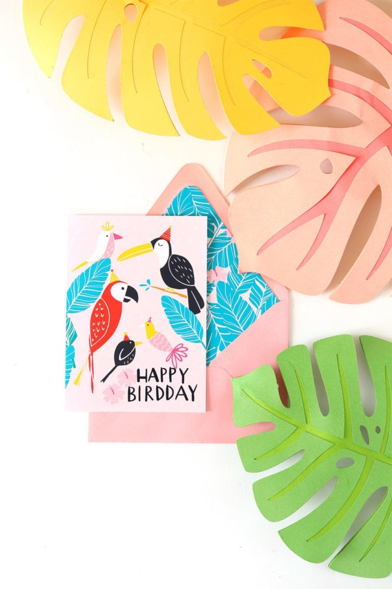 April Newsletter + Free Birthday Card Printable