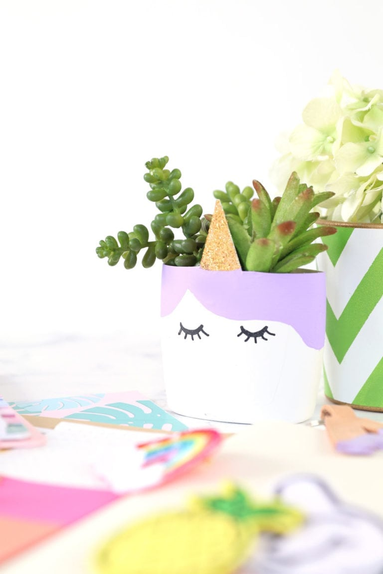 DIY Upcycled Unicorn Planter