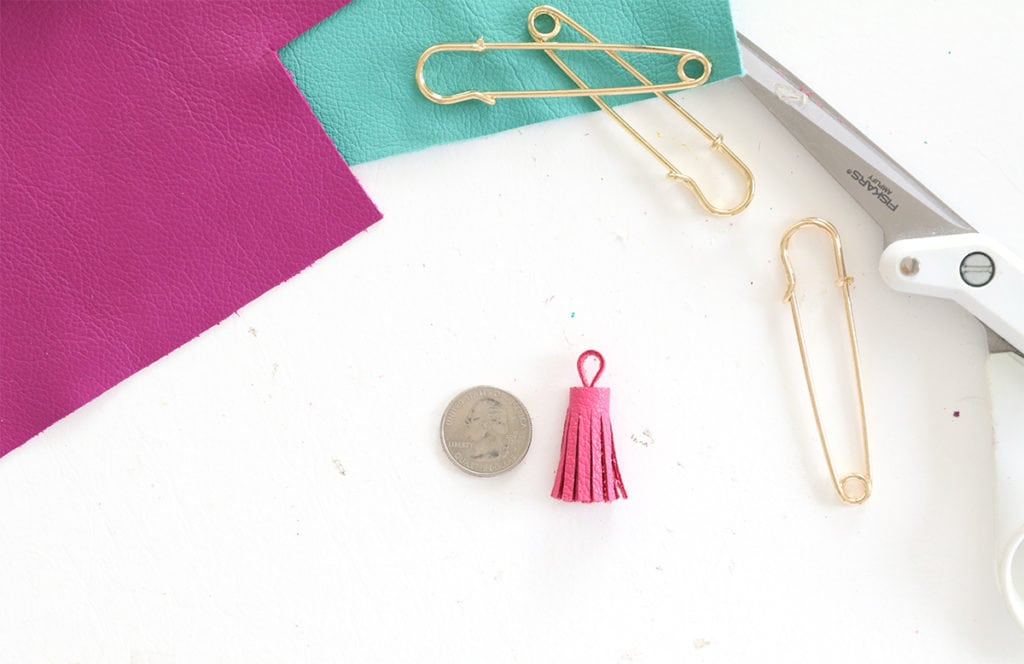 DIY Leather Tassel Flair | damask love