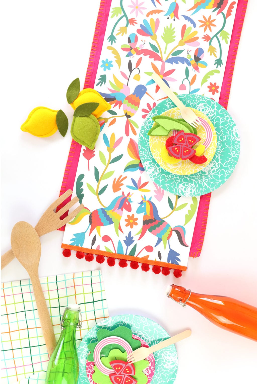 Printable Mexican Otomi Table Runner | damask love