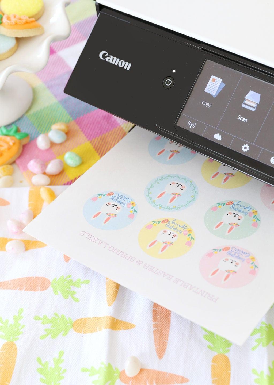 Free Printable Easter Spring Labels   damask love