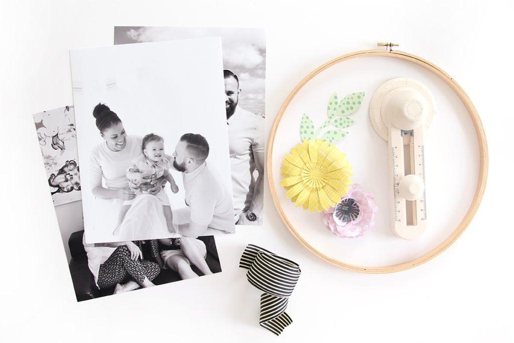 DIY Embroidery Hoop Wreath Photo Frame | damask love