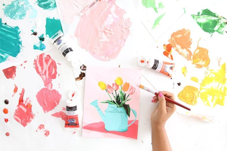 Printable Paint by Number with Americana Premium Paints