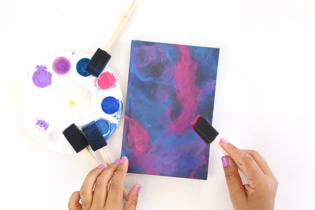 DIY Galaxy Painted Notebook | damask love