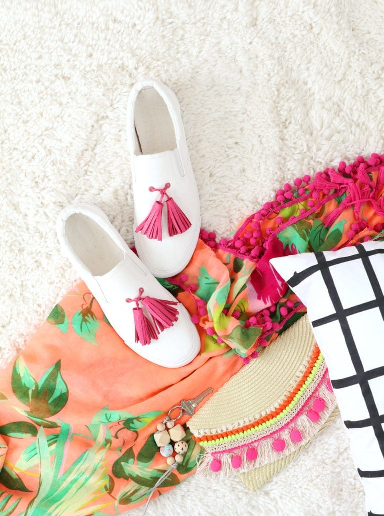 DIY Tassel Sneakers with Crop-A-Dile Big Bite