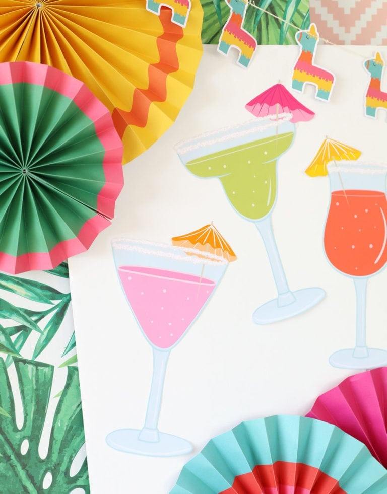 Printable Pin the Lime on the Cocktail Game