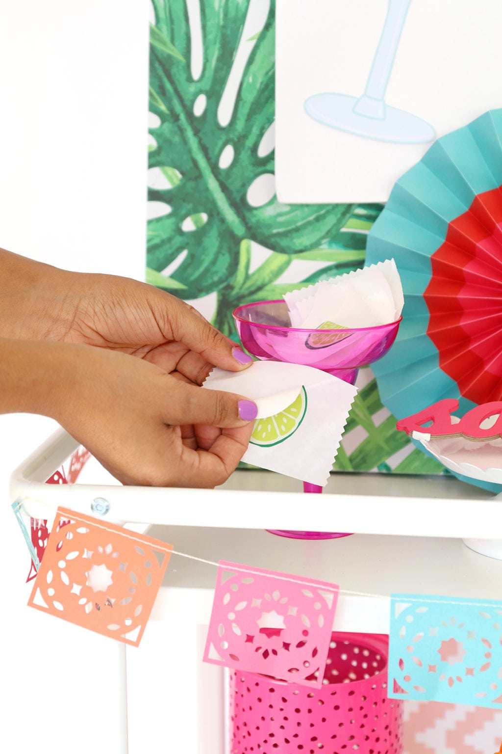 Printable Pin the Lime on the Cocktail Game   damask love