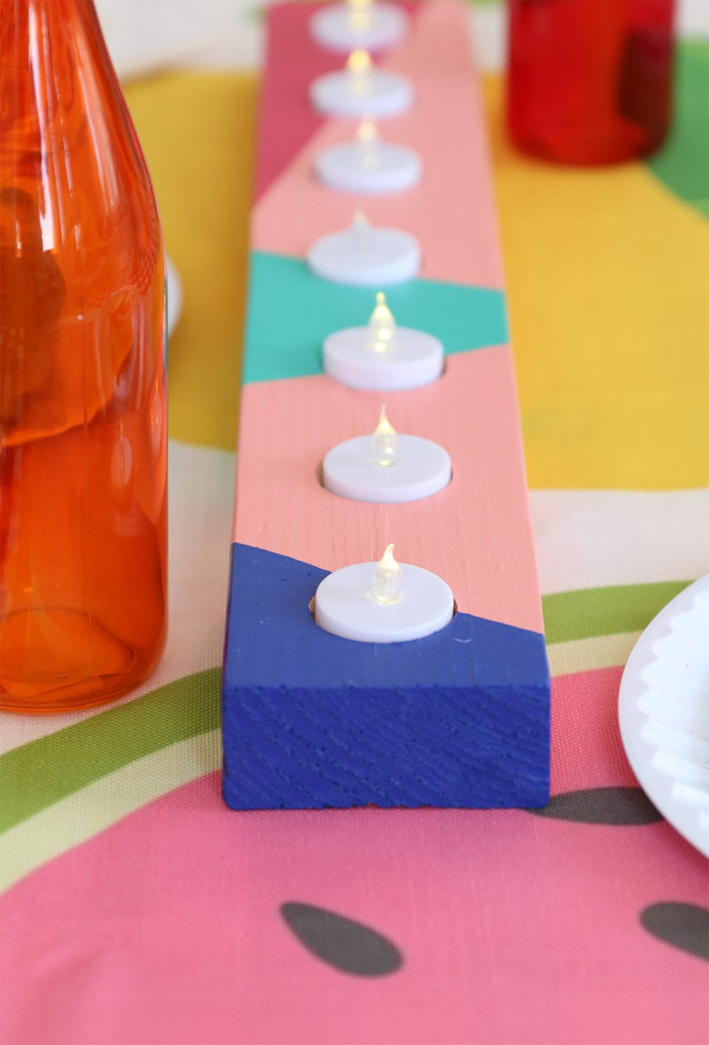 DIY Candle Centerpiece | damask love
