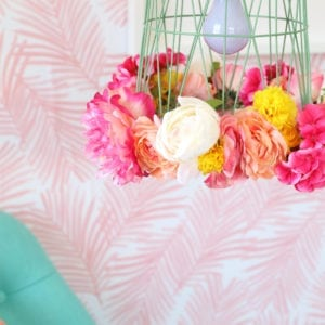 DIY Wastebasket Pendant Lamp | damask love