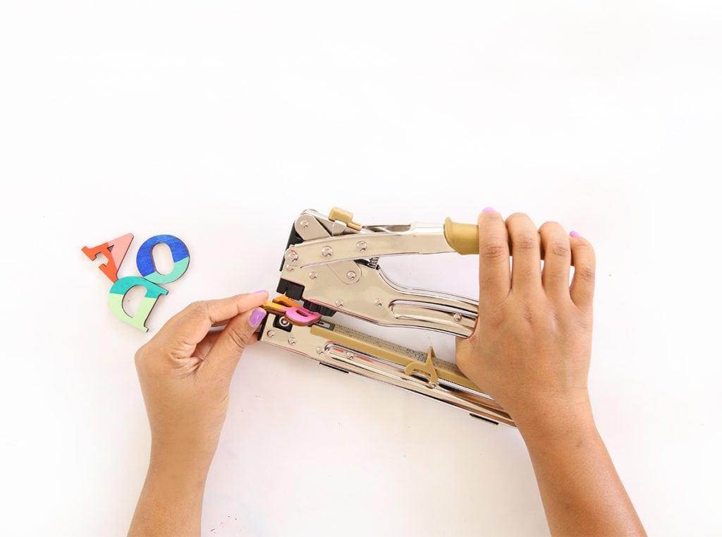 DIY Wood Monogram Keychains   damask love