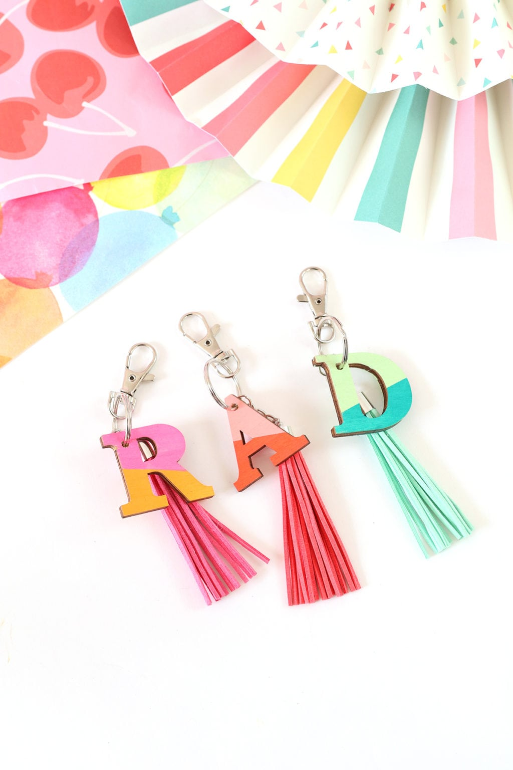 DIY Wood Monogram Keychains | damask love