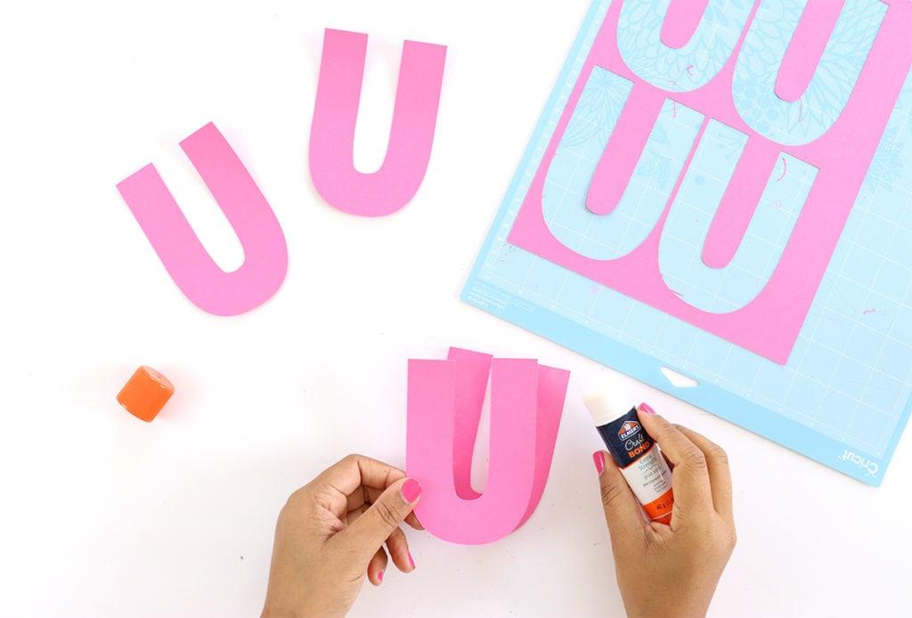 DIY Chipboard Letters for Summer | damask love
