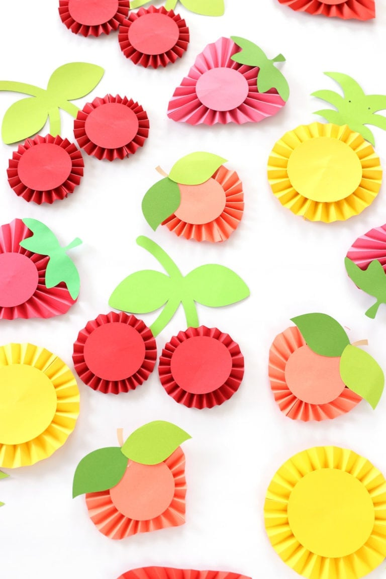 DIY Summer Fruit Paper Rosettes