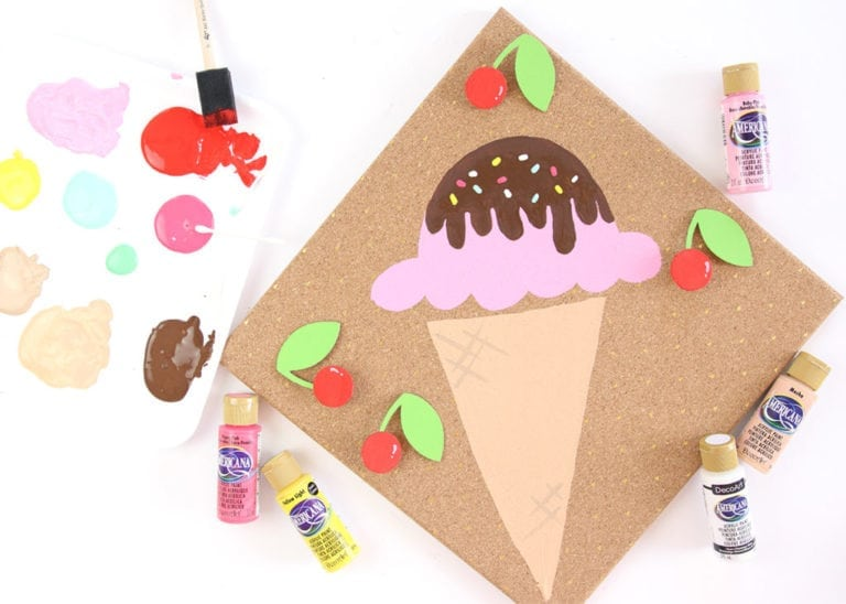 DIY Pin the Cherry on the Ice Cream Game