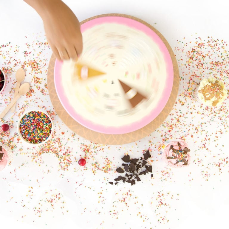 DIY Ice Cream Sundae Roulette Game