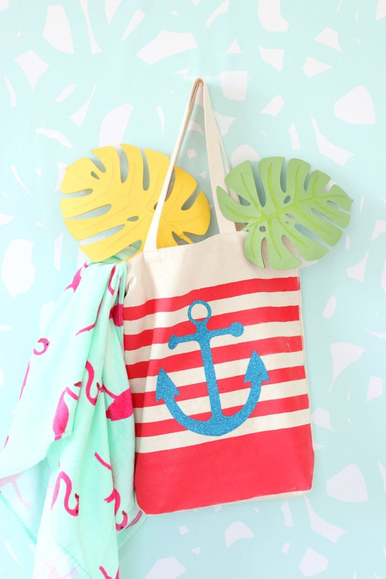 DIY Striped Nautical Tote Bag with Cricut Explore
