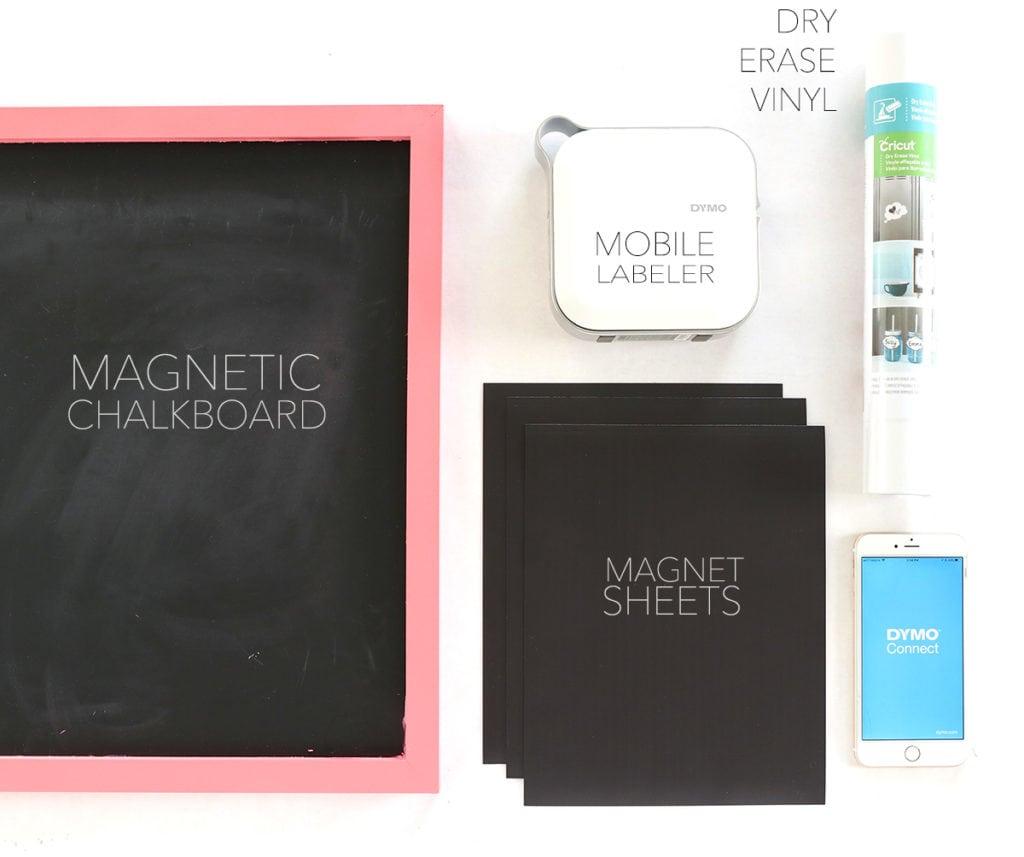 Diy Magnetic Whiteboard Calendar : Diy magnetic whiteboard calendar with dymo mobilelabeler