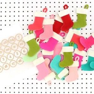 Pegboard Felt Stocking Advent Calendar with Cricut Maker | damask love
