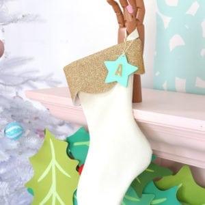 DIY Velvet and Glitter Stocking | damask love