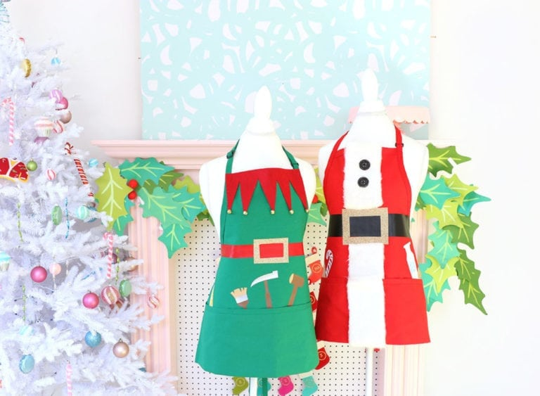 No-Sew Holiday Aprons